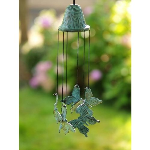 Eliassen Wind chimes bronze with butterflies