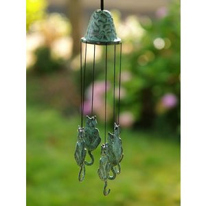 Eliassen Wind chimes bronze with cats