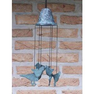Eliassen Wind chimes bronze with birds