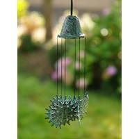 Windgong brons met zonnetjes
