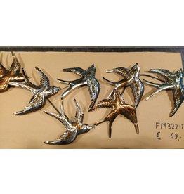 Wall decoration metal Swallows