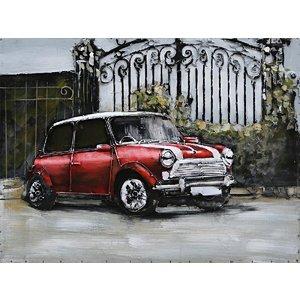 Eliassen malerei metall 3d 80x60cm rot mini