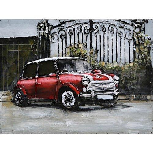 Eliassen schilderij metaal 3d 80x60cm Rode Mini