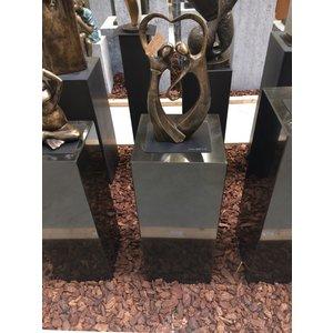 Eliassen Basis schwarzer Granit poliert 30x30x75cm
