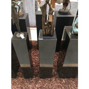Eliassen Sokkel  zwart graniet gepolijst 20x20x90cm hoog
