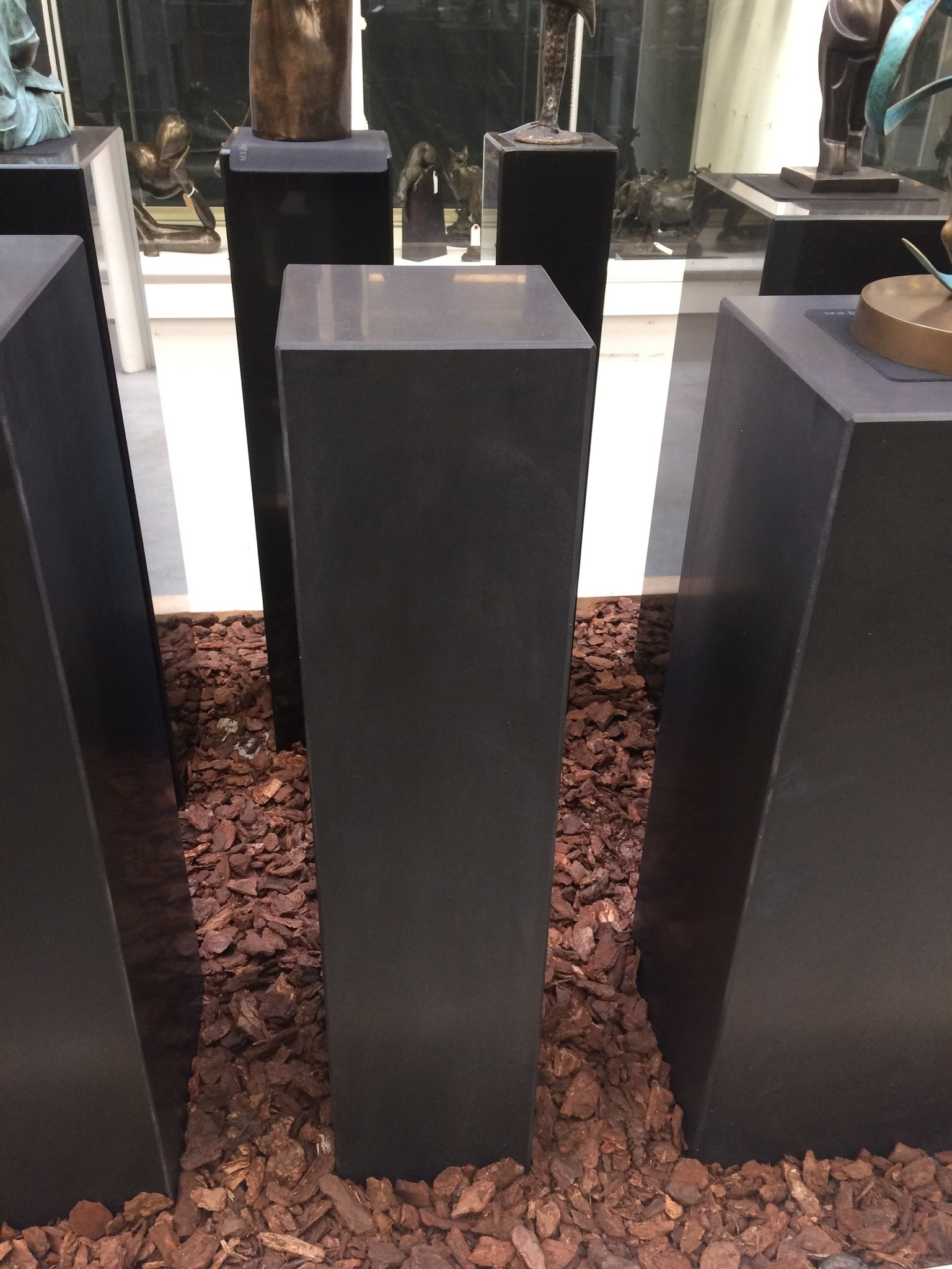 Eliassen Base black granite matt 20x20x90cm