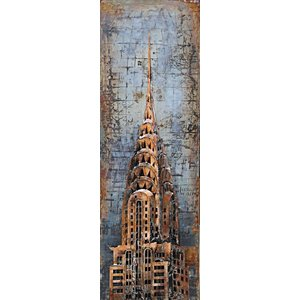 Eliassen Painting 3d metal 50x150cm Chrysler Tower