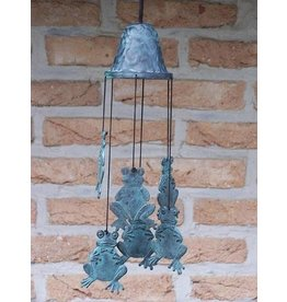 Eliassen Wind chimes bronze with frogs