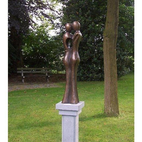 Eliassen Beeld brons groot abstract liefdespaar