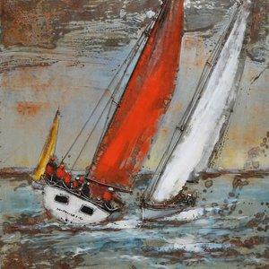 Eliassen Metalen 3d schilderij 100x100cm Loefzijde
