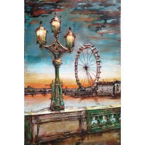 Eliassen 3D painting metal 80x120cm Ferris wheel