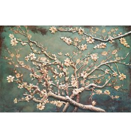 Eliassen 3D painting metal 80x120cm Almond blossom