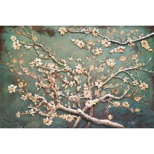 Eliassen 3D Malerei Metall 80x120cm Mandelblüte