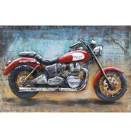 Eliassen 3D-Malerei Metall 80x120cm Cafe Racer Triumph