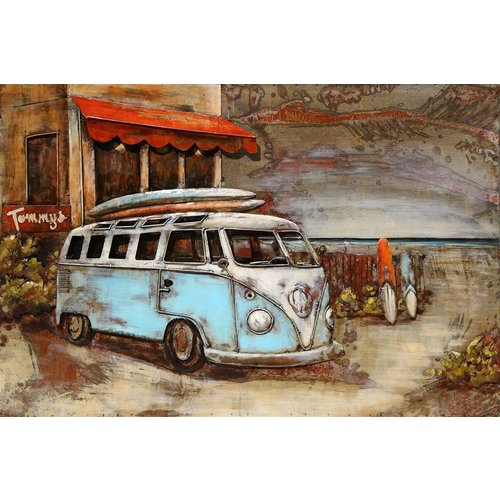 Eliassen 3D painting metal 80x120cm Bus for hotel