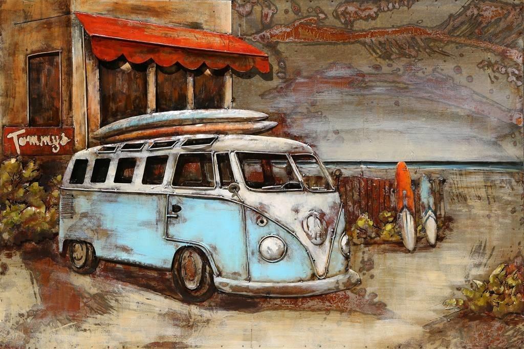 Eliassen 3D Gemälde Metall 80x120cm Bus für Hotel