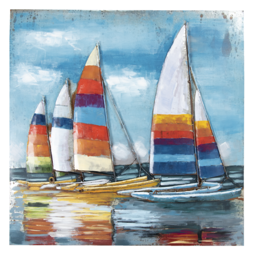Eliassen 3D painting 100x100cm Sailboats 1