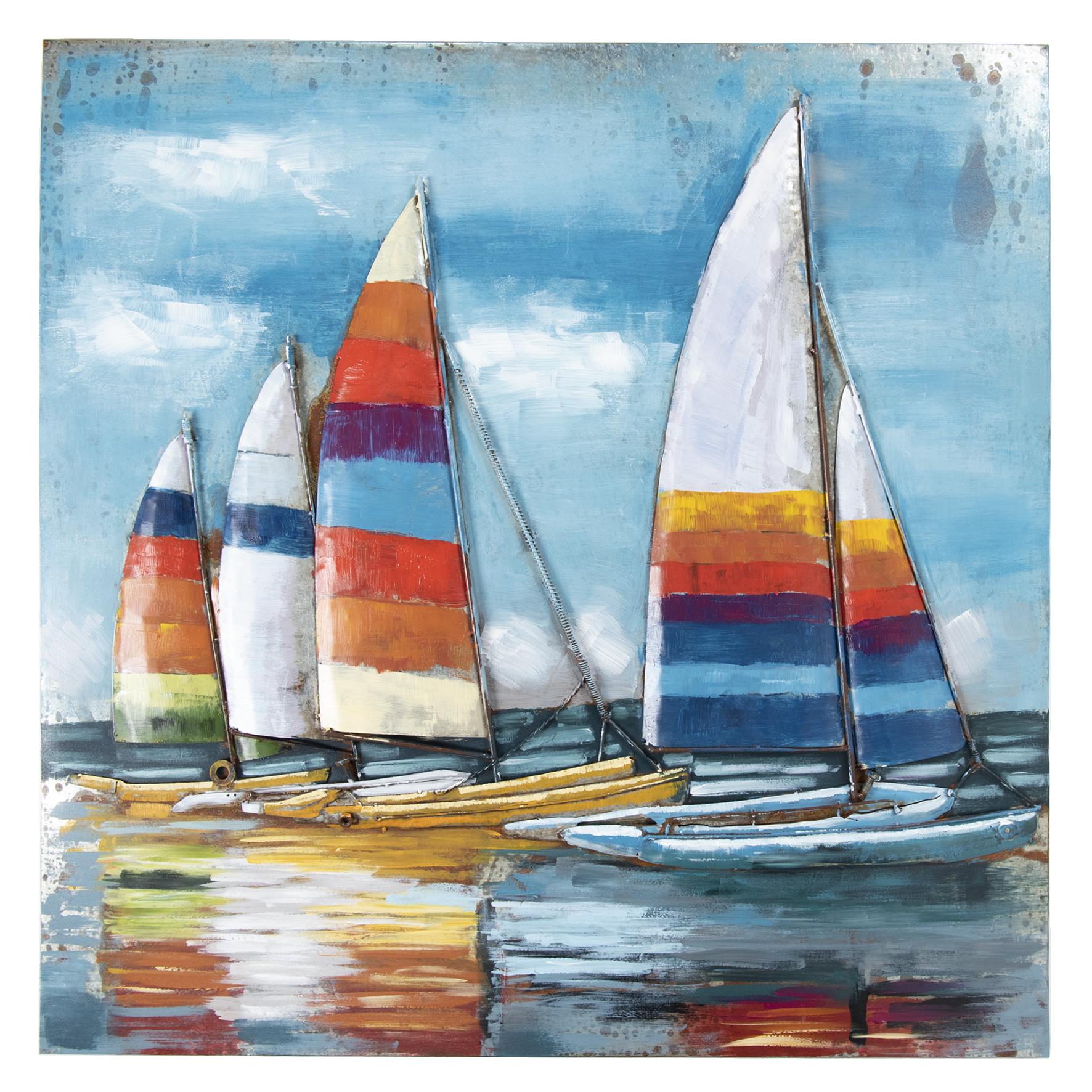 Eliassen 3D Bemalung 100x100cm Segelboote 1