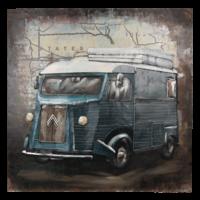 3D Malerei 80x80cm Bus