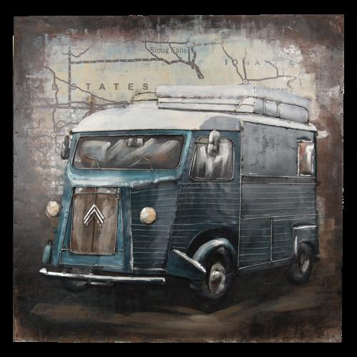 Eliassen 3D painting 80x80cm Bus