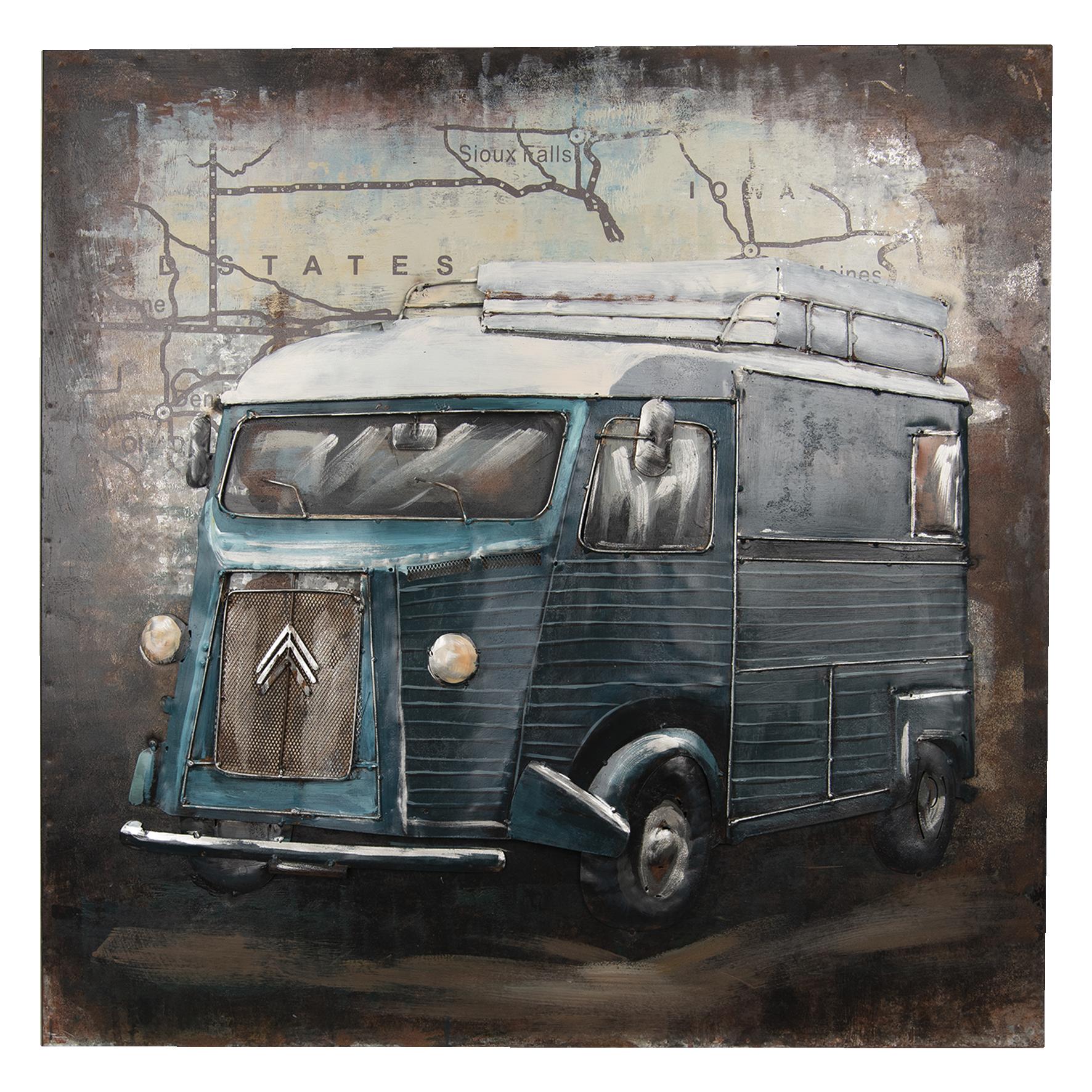 Eliassen 3D schilderij 80x80cm  Bus