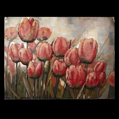 Eliassen 3D schilderij 100x75cm hoog Tulpen