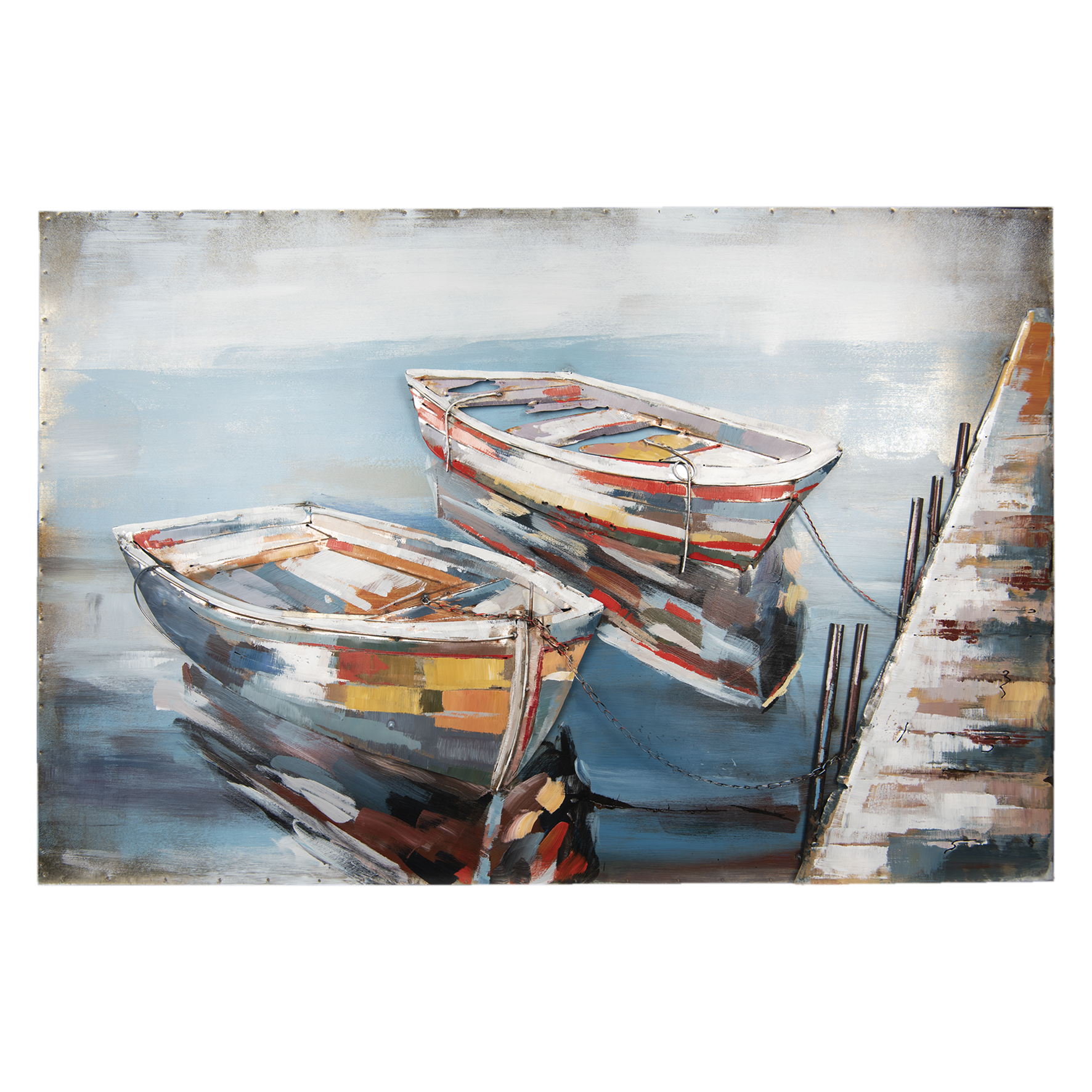 Gave 3D-Malerei 120x80cm Boote