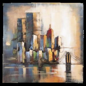 Eliassen 3D schilderij 100x100cm  Skyline