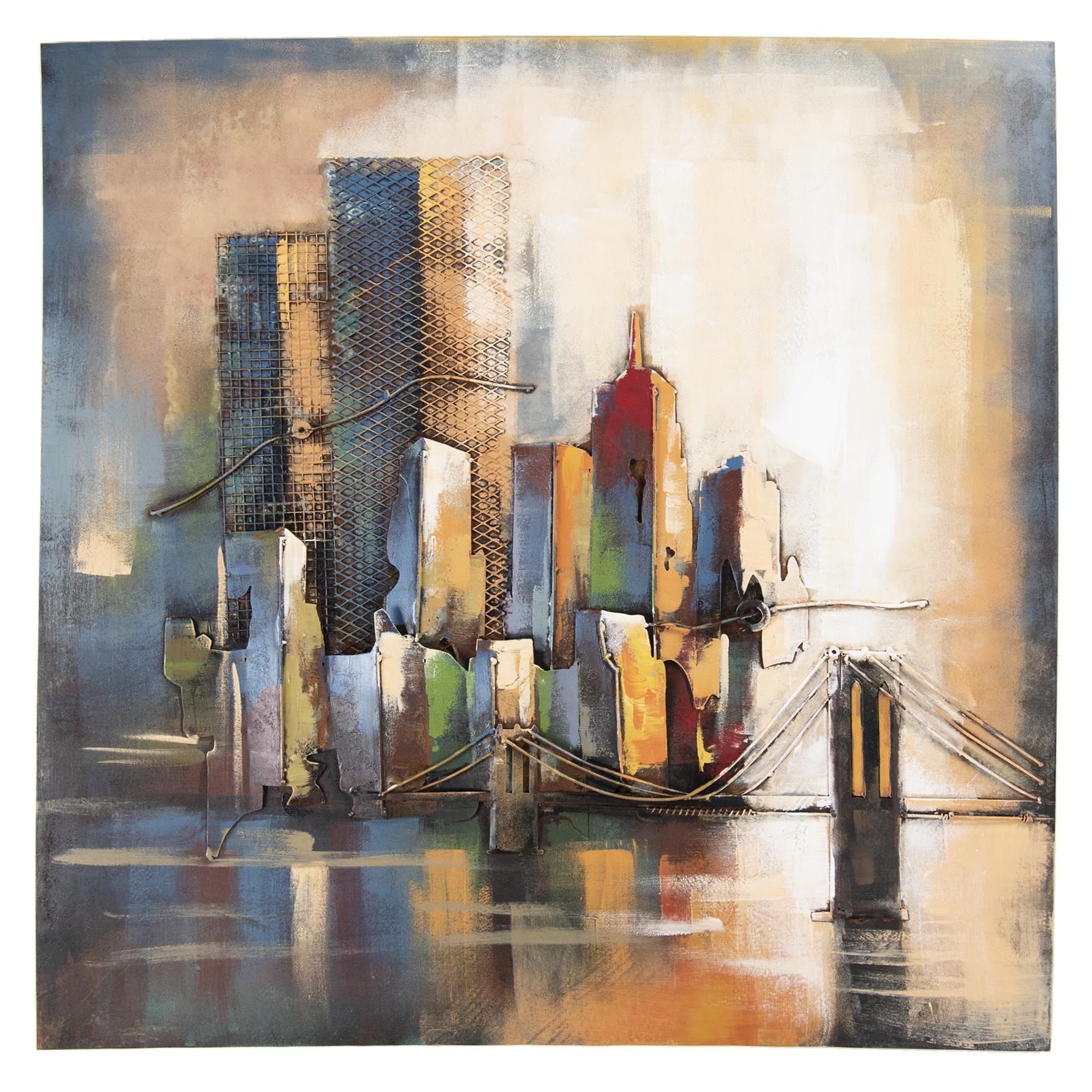 Eliassen 3D Malerei 100x100cm Skyline