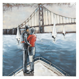 Eliassen 3D Malerei 100x100cm Brücke