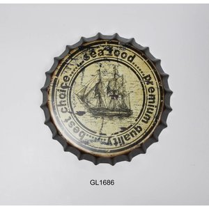 Eliassen Beer cap wall decoration Sailing