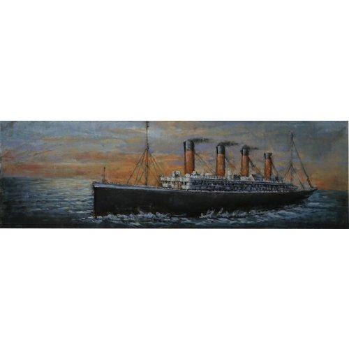 Painting 3D metal Titanic 56x180cm