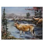 Eliassen 3D schilderij metaal 80x100cm Hert