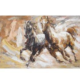 Oil painting 100x150cm Horses