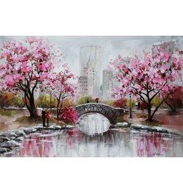Oil painting 80x120cm Bridge