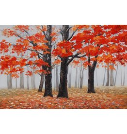 Oil painting 80x120cm Autumn