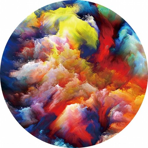 Gave Glass painting around Colorful diameter 80cm
