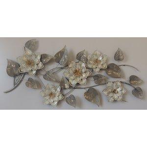 3D metalen Muurdecoratie Bloemen