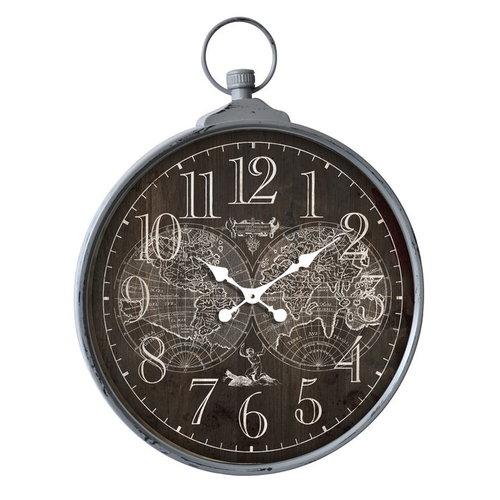 Eliassen Wall clock large around World Map