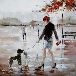 Oil painting 100x100cm Bobbie