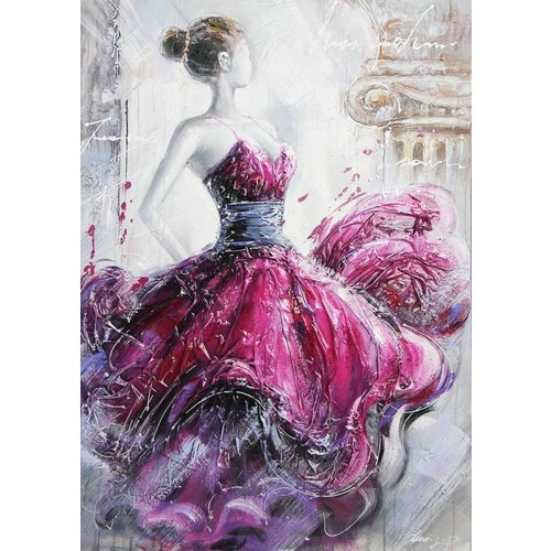 Canvas painting 80x120cm Lady Red