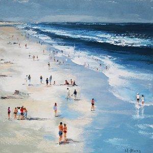 Canvas painting 100x100cm Beach