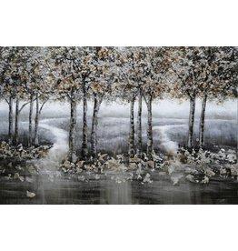 Wandbild auf Leinwand 80x120cm Wald