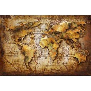 Gemälde 3d Metall 80x120cm Globe 6