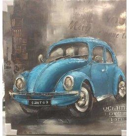 Eliassen Metalen 3D schilderij 100x100cm VW Kever