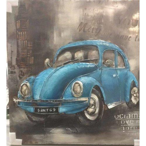 Eliassen Metall 3D-Malerei 100x100cm VW Käfer