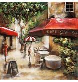 Eliassen 3D Gemälde Metall 100x100cm Paris Cafe 3