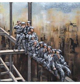 3 D Malerei Arbeiter hoch