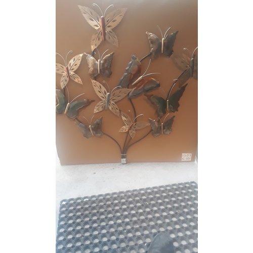 3d wanddecoratie Tak met vlinders