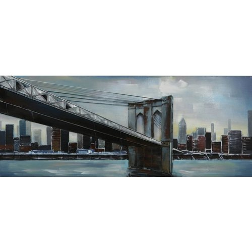 Gave Malerei 3d Metall 60x150cm New York